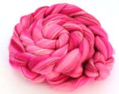 Merino Wool and Silk Blend Combed Top Vibrant Pink 100g 3.5 oz Fine Merino Fiber for Felting or Spinning Yarn Roving by Shunklies on Etsy