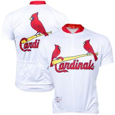 VOmax St. Louis Cardinals Stock Performance Cycling Jersey - White