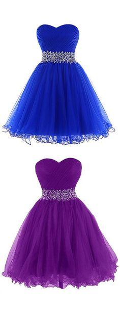 2016 homecoming dress, short homecoming dress, mini homecoming dress, royal blue…