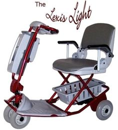 """The Lexus Light Foldable Mobility Scooter Is The Worlds Lightest Mobility Scooter Mobility Aids, Mobility Scooters, Golf Cart Batteries, Lead Acid Battery, Buy Scooter, Trike Scooter, Easy Light, Aging Gracefully, Gauges"