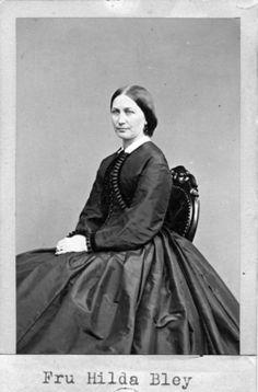 """Fru Hilda Bley"" (Mrs Hilda Bley), Sweden, 1860's. Bohusläns Museum, nr. UMFA53226:1892"