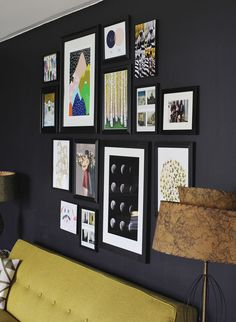 Great art gallery wall with good thoughtful composition