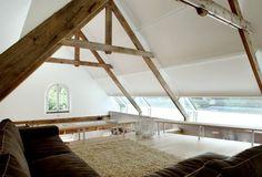 Rustikales Ambiente Design-Haus Balken-Fenster Öffnungen-Sofa Set