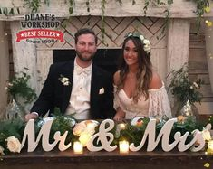 Wooden Mr and Mrs Wedding sign, Gold and Silver Glitter, Wedding Decor, Wedding, Mr & Mrs Wedding Chair Signs, Wooden Wedding Signs, Wedding Table, Wedding Reception, Reception Signs, Wooden Signs, Mr And Mrs Wedding, Our Wedding, Dream Wedding
