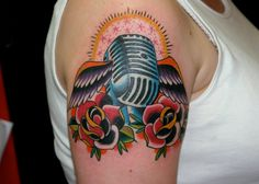 Old School Microphone with Wings by Demian