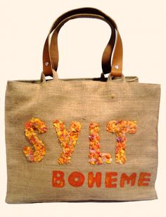 """""""Sylt-Boheme Orange"""" Beach bags  www.sylt-boheme.de"""