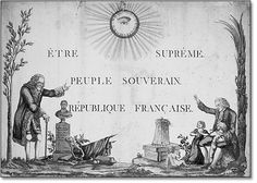 Anonymous, Supreme Being, Sovereign People, French Republic, 1794, Muséez Carnavalet, Paris.