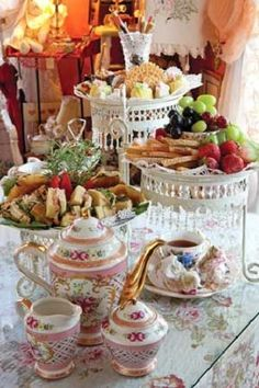 afternoon tea party table setting