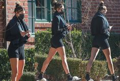 Hailey Bieber shows off figure in tight shorts after pilates class Hailey Bieber did not let the most recent COVID-19 stay-at-home order in Los Angeles White Slippers, Black Socks, Shorts With Tights, Skin Tight, Athletic Shorts, Hair Ties, Put On, Justin Bieber, Instagram Story