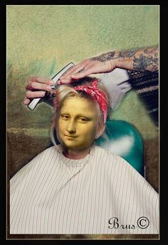 Mona Lisa Smile, Mona Friends, Mona Lisa Parody, Renaissance Artists, Louvre, Girl Face, Caricature, Funny Pictures, Hippie Art