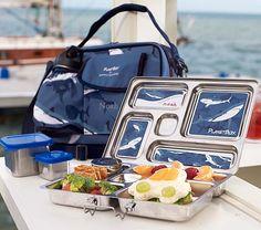 Blue Shark Planet Box Lunch Box