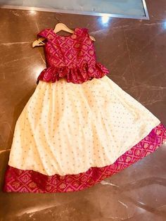 Baby Girls Romany Spanish Red wine  Floral Dress bird Ages 2