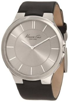 Relógio Kenneth Cole New York Men's KC1847 Stainless Steel and Black Leather Watch #Relógio #Kenneth Cole