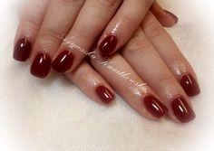 deep red burgundy nails
