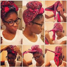Natural Hair: Turban/Scarf Tutorial