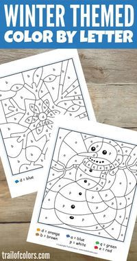 Grab These Lovely Winter Color By Letter Free Printable And Surprise Your Kids With Some Coloring