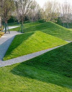 Shijiazhuang Sunac City by Z'scape Landscape Concept, City Landscape, Urban Landscape, Landscape Design, City Architecture, Landscape Architecture, Plant Design, Garden Design, Garden Angels