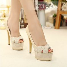 Shop Apricot Suede Stiletto Heels Platform Peep-toe Pumps on sale at Tidestore with trendy design and good price. Come and find more fashion Pumps here. Peep Toe Pumps, Women's Pumps, Stilettos, Stiletto Heels, Shoes Heels, High Shoes, Cheap Prom Shoes, Cheap Heels, High Heels For Prom