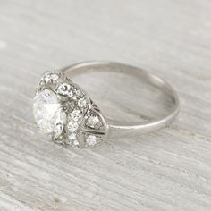 1.15 Carat Art Deco Vintage Diamond Engagement Ring | Erstwhile Jewelry Co.