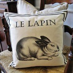 "Ballard-inspired ""Le Lapin"" pillow"