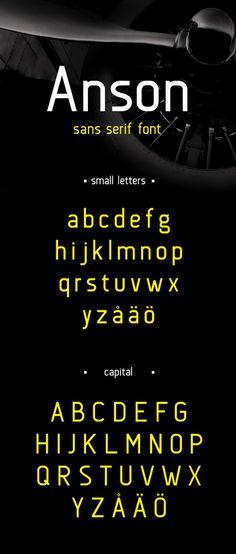 Anson free fonts of year 2013  #freefonts #bestof2013 #fonts