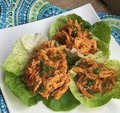 These 21 Day Fix buffalo chicken lettuce wraps are perfect for dinner and also make great leftovers...you're going to love them!