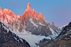"""""""Warming the Peaks"""" - Los Glaciares National Park, Argentina - Patagonia - www.colbybrownphotography.com"""