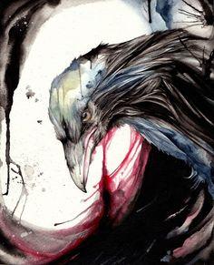 Каталог эскизов тату с воронами. Галерея лучших работ в различных стилях. Идеи татуировок с воронами, а также их значения.