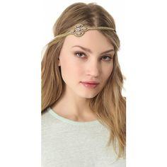 Deepa Gurnani Stone Embellished Headband ($54) ❤ liked on Polyvore
