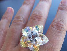 Instrucciones para hacer Anillos de abalorios paso a paso. Pendientes, pulseras, collares y objetos con abalorios de cristal.