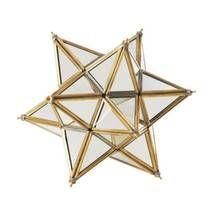 Gold Metal Edged Glass Star Ornament
