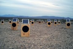 Sun boxes: an incredible solar powered sound installation that composes music via solar energy.