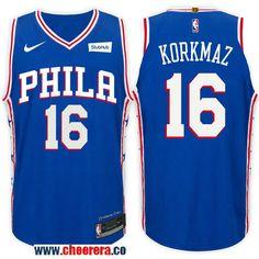 9c2edf129d2 Men s Nike NBA Philadelphia 76ers  16 Furkan Korkmaz Jersey 2017-18 New  Season Blue Jersey