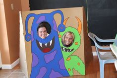Our monster photo booth