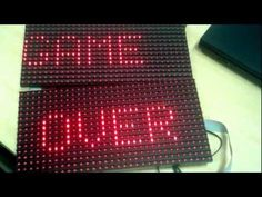Daisy chain'ing Dot Matrix Displays with  32x16 dots incl. lib and code for games on the resulting matrix