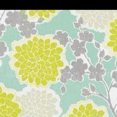 Cute color combo - Yellow aqua gray