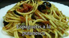 Recetas Caseras Fáciles MG: Espaguetis a la putanesca Tapas, Sandwiches, Spaghetti, Cooking, Ethnic Recipes, Food, Youtube, Gastronomia, Spaghetti Recipes