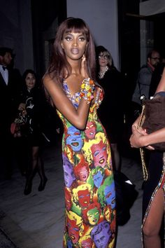 Naomi Campbell In Versace Marilyn Print #vintage #naomicampbell #resurrectionvintage