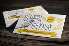 Yellow and black business card desing