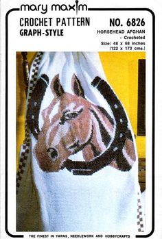 Vintage Horse Head afghan. Crochet this fantastic graph-ghan using our pattern