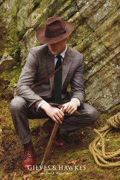 """"""" Gieves&Hawkes channeling Indiana Jones """" #fashion & #style"""