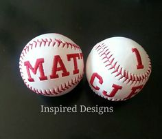 Customize your own baseball! Great for that little boy who loves baseball!! Even the big boys will like these!