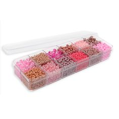 Pink Paradise Seed Bead Selection 12x11g Box Set