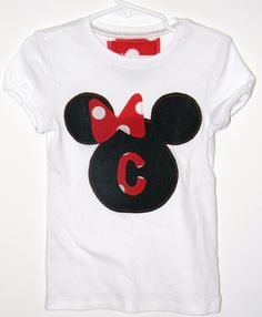 adorable girls disney mickey mouse shirt by SewAdorableToo on Etsy, $16.50