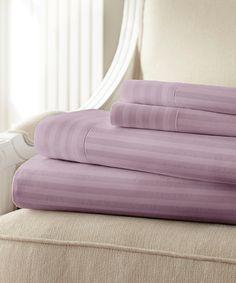 Lilac Hotel 5th™ Hampton Dobby Stripe Microfiber Sheet Set
