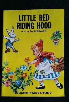 LITTLE RED RIDING HOOD A GIANT FAIRY STORY BOOK C. PERRAULT OTTENHEIMER 1983