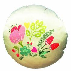 Dolce Home  Smiley Renkli Çiçek Desenli Yuvarlak Kırlent 39,99 TL