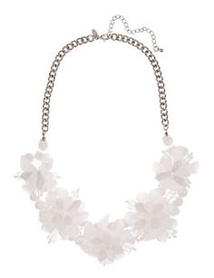 Resin Block Floral Necklace | M&S