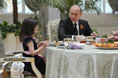 Vladimir Putin after parade of the Victory on Red square was met in Kremlin since 8 years Sonya from Pskov   patient of the Federal scientific clinical centre baby Onkologiya, Gematologiya and Immunologiya, and her parent.
