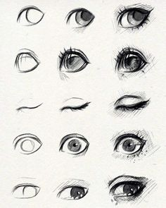 Eye Drawing Tutorial Sketches by ryky. Eye Drawing Tutorials, Drawing Techniques, Drawing Tips, Drawing Reference, Art Tutorials, Painting & Drawing, Drawing Drawing, Drawing Faces, Drawing Ideas